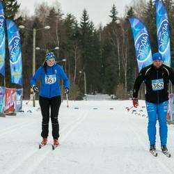 Kekkose 21. suusasõit - Adeele Arnek (361), Marti Viilu (362)