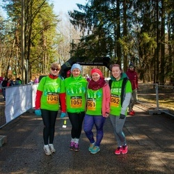 7. Tartu Parkmetsa jooks - Hannele Raaper (1045), Ingrid Saar (1057), Nelli Marii Käppa (1061), Jaanika Teider (1062)