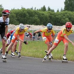 EMT Rullituur - Pärnu Rullimaraton - Geidi Kruusmann (406), Terje Vingisaar (407), Anneli Rosin (412)