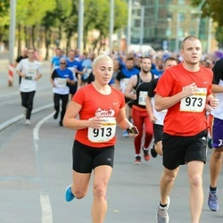 Tallinna Maratoni Sügisjooks 10 km - Irina Fomitseva (913), Dmitri Fomitšev (973)