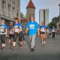 Tallinna Maratoni Sügisjooks 10 km - Helbe Edala (8090), Anneli Tokman (8948), Ivar Edala (12409)