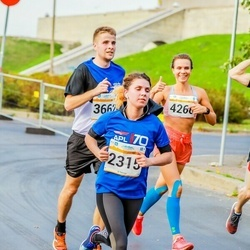 Tallinna Maratoni Sügisjooks 10 km - Cathlyn Olev (2315), Toivo Tammekivi (3662), Maria Frolova (4266)