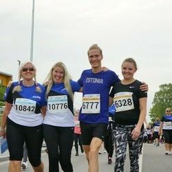 Tallinna Maratoni Sügisjooks 10 km - Triin Kukk (6328), Aarne Kuusmann (6777), Svea Saar (10776), Helen Saar (10842)