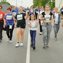 Tallinna Maratoni Sügisjooks 10 km - Tiina Kesküla (9253), Ülle Haljastamm (9255), Irina Luga (12104), Kärola Sologub (12289), Agnes Väli (12292), Elizaveta Kruze (12294)