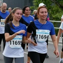Tallinna Maratoni Sügisjooks 10 km - Irina Säkki (11694), Maria Säkki (11695), Anna Säkki (11696)