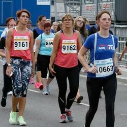 Tallinna Maratoni Sügisjooks 10 km - Külli Kaare (9161), Tiia Kiis (9162), Anastassia Taranko (10663), Natalja Volzina (11617)