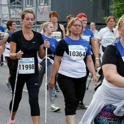Tallinna Maratoni Sügisjooks 10 km - Arle Kõressaar-Vallimaa (8098), Anastassia Dreljova (10053), Raita Ustal (10364), Nele Laar (11998)