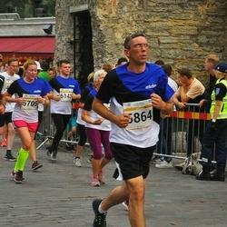 Tallinna Maratoni Sügisjooks 10 km - Madis Mikson (1311), Birgit Hänilane (5705), Aleksei Rolits (5864), Ilja Pahhomov (6143)