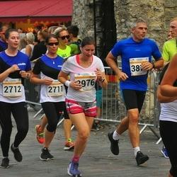Tallinna Maratoni Sügisjooks 10 km - Angela Ilus (2711), Kati Ilus (2712), Andres Piir (3879), Anna Sokolova (3976)