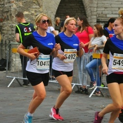 Tallinna Maratoni Sügisjooks 10 km - Varje Rikka (5492), Cätrin Rikka (5495), Aleksandra Šavrova (10412)