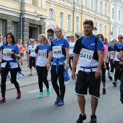 Tallinna Maratoni Sügisjooks 10 km - Marek Beek (5416), Ragnar Kurs (5418), Birgit Veermäe (9699), Marta Meriloo (9722)