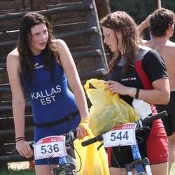 RMK Kõrvemaa Triatlon - Laura Kallas (536), Rahel Kallas (544)