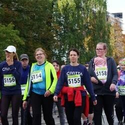7. Tartu Linnamaraton - Reelika Luhtaru (5154), Anneli Roose (5155), Pille Kaldmaa (5156), Janne Pungar (5158)