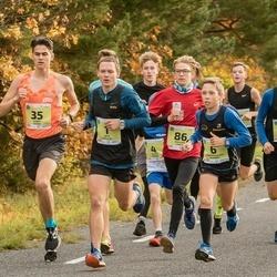 45. Saaremaa kolme päeva jooksu noortejooks - Artis Rožkalns (1), Kārlis Dieviņš (5), Roberts Aleksis Glazers (6), Hardy Kaska (35), Raimond Parts (86)