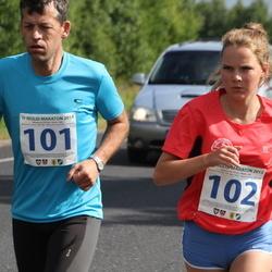 IV Mulgi maraton - Kalle Lillemets (101), Kelina Lillemets (102)