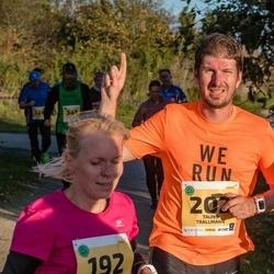 45. Saaremaa kolme päeva jooks - Pirje Külaots (192), Tauno Trallmann (202)