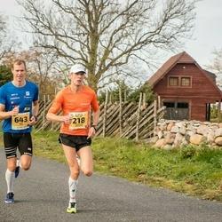 45. Saaremaa kolme päeva jooks - Margus Pirksaar (218), Bert Tippi (643)