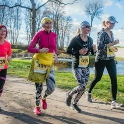 45. Saaremaa kolme päeva jooks - Eneken Jalast (391), Liina Jutt (492), Moonika Org (520), Aet Kull (639)