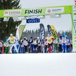 21. Tallinna Suusamaraton - Allar Soo (11), Carl Sõlg (18), Mati Mäe (148)