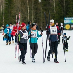21. Tallinna Suusamaraton - Maarika Männil (561), Anni Männil (562), Ralf Männil (669)