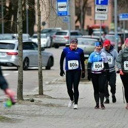 Sinilillejooks TARTU 2019 - Kertu Niilus (804), Marilin Niilus (805), Anna-Liisa Mandli (812)