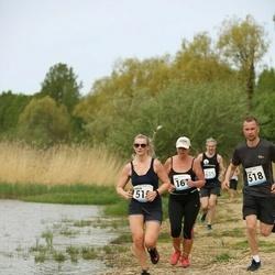 48. jooks ümber Harku järve - Ranno Rüüberg (518), Evelyn Rüüberg (519)
