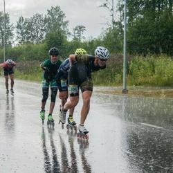 Pärnu Rulluisumaraton - Joonas Valge (301), Karl-Martin Laasberg (303), Laura Jankovska (304)