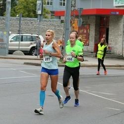 Tallinna Maraton - Mika Metsojoki (660), Triin Peterson (691)