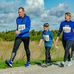 IV Ultima Thule maraton - Leo Reiman (409), Varje Tuuling (421), Lauri Reiman (422)