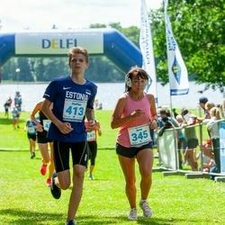 39. jooks ümber Pühajärve - Anna Solomko (345), Steffen Soha (413)
