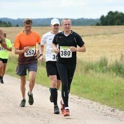 91. Suurjooks ümber Viljandi järve - Taavi Silber (380), Margo Engel (495), Neeme Mutso (552)