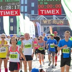 SEB Tallinna Maraton - Justas Tolpežninkas (417), Annika Veimer (718), Zaira Sorokina (826), Lennart Pulk (1578), Georgi Romasenko (1820), Anatoli Läte (2145)