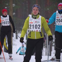 16. Alutaguse Maraton - Marve Reiu (2022), Kirke Aitsen (2041), Britta-Mai Nõmmik (2102)