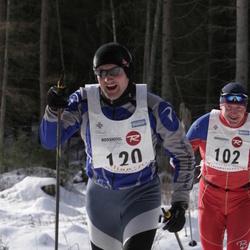 11. Tallinna suusamaraton - EMT Estoloppet - Art Soonets (102), Martin Siimer (120)