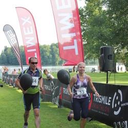 TriSmile Triatlon - SIS SmileRun - Katrin Varik (33), Rannes Neps (34)