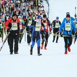 Finlandia-hiihto - Mauri Jussinmäki (5042), Risto Aaltonen (5111), Tarja Salonen (5294), Olga Vashchilko (5467)