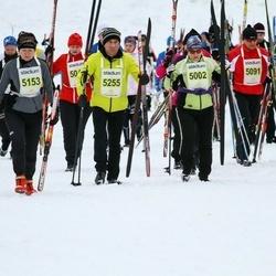 Finlandia-hiihto - Tuula Ilmorinne (5002), Seppo Koskelo (5091), Jana Vrobelova (5153), Rene Perez (5163), Ari Tenhunen (5255), Tina Korpi (5333)
