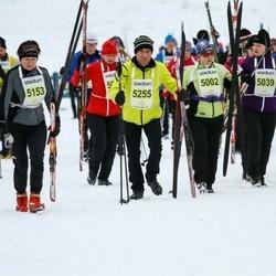 Finlandia-hiihto - Tuula Ilmorinne (5002), Seija Toikkanen (5039), Seppo Koskelo (5091), Jana Vrobelova (5153), Rene Perez (5163), Ari Tenhunen (5255)