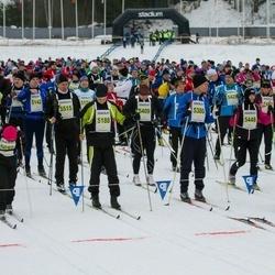 Finlandia-hiihto - Jari Mikkelä (5180), Jorma Tentke (5188), Vesa Parikka (5380), Satu Vaarula (5448), Kalevi Setälä (5515)
