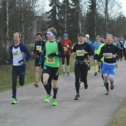 Helsinki Spring marathon - Tuomo Saloranta (93), Karri Holopainen (101), Tommy Rantala (220), Eetu Myrskylä (231)