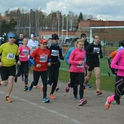 Helsinki Spring marathon - Pekka Kinnari (562), Asser Kokkonen (1005), Gunilla Lindgren (1130), Taru Schroderus (1186)