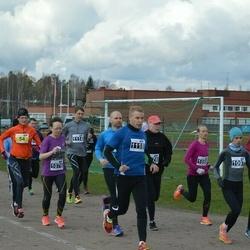 Helsinki Spring marathon - Tarja Ryhänen-Dahlman (54), Heini Koukkari (1076), Arja Kajanki (1097), Antti Rantala (1118)