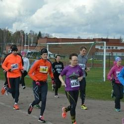 Helsinki Spring marathon - Tarja Ryhänen-Dahlman (54), Heini Koukkari (1076), Mikko Koli (1117), Andrei Provorkov (1168)