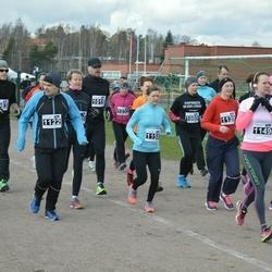 Helsinki Spring marathon - Henrik Rytinki (1122), Katri Wahlström (1149), Eeva Sauri (1158)