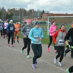 Helsinki Spring marathon - Jorina Schut (1046), Eija Vesti (1127)