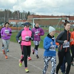 Helsinki Spring marathon - Grit Kabiersch (1039), Mila Marinovic (1052), Maria Hänninen (1150)