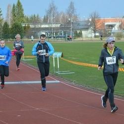 Helsinki Spring marathon - Hanna Ikonen (408), Anton Rytinki (1008)