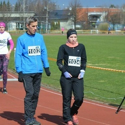 Helsinki Spring marathon - Juha Sorvari (1002), Tiina Sorvari (1034)