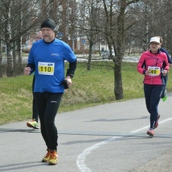 Helsinki Spring marathon - Birgitta Ivars (49), Lars Landgren (110)