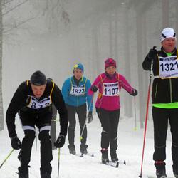 Finlandia-hiihto - Riia Hokkanen (1107), Marko Mara (1321), Juha Itkonen (1823), Tommi Ruohonen (5458)
